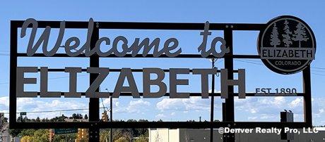 Welcome Sign in Elizabeth Colorado