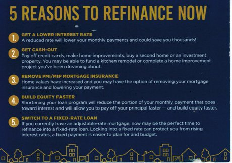 5 Reasons to Refinance Now