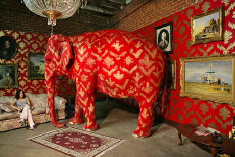 """Photo of an elephant in a room to illustrate, """"3 Odd Things To Overlook While Home Buying""""."""