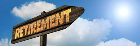 """A photograph of a direction sign with the word 'retirement' used to illustrate, """"6 Downsizing Tips For Retirees""""."""