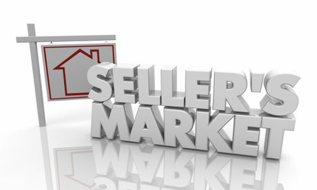 """Sellers Market Home House For Sale Sign 3d Illustration to illustrate, """"Real Estate Investing During A Seller's Market - Part 2 of 2""""."""