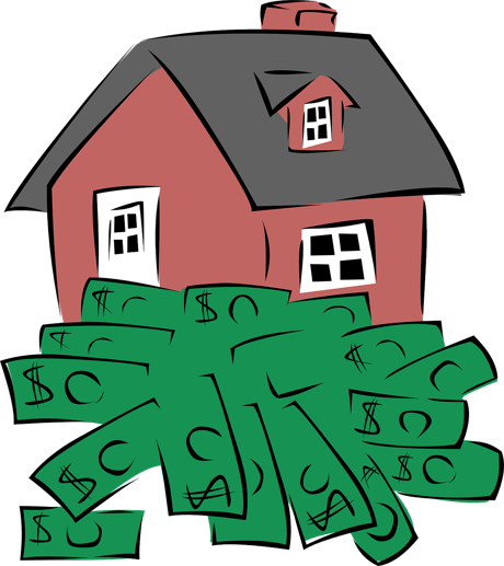 """Graphic of rental home and money to illustrate, """"The Good, The Bad, and The Ugly Of Section 8 Rentals"""""""