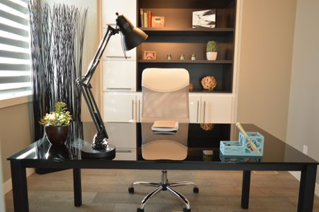 """Photograph of a home office to illustrate, """"3 Decor Tips For Working From Home During COVID-19""""."""