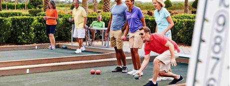 Bocci Ball at a Florida Active Adult Community