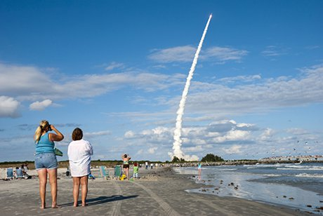 Rocket Launch view from Cocoa Beach Florida