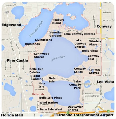 Belle Isle Florida Map Belle Isle Homes for Sale   Belle Isle FL Real Estate