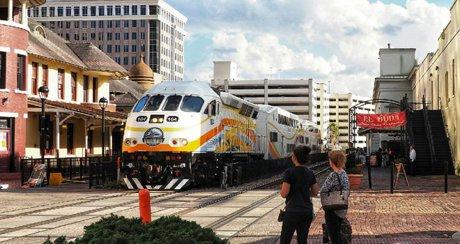 Sunrail in Downtown Orlando Florida