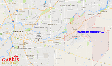 Rancho Cordova Map