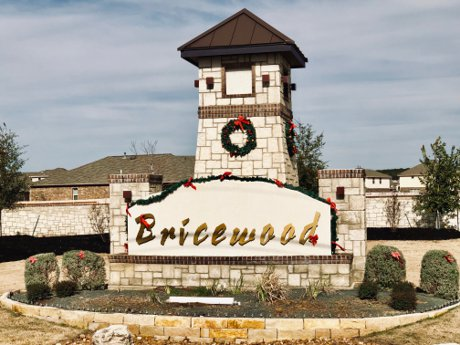 Bricewood Neighborhood Sign