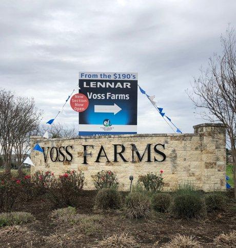 Lennar Voss Farms Community Sign