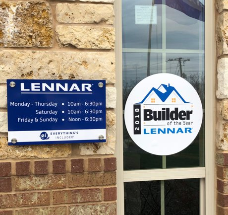 Lennar Voss Farms Hours of Operation