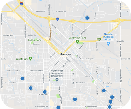 Nampa ID real estate map search