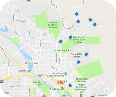 boise north real estate map search