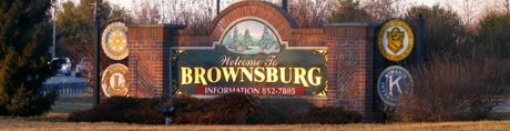 Brownsburg Welcome sign