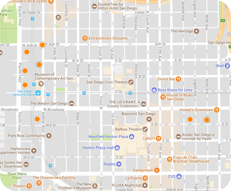 columbia interactive map search