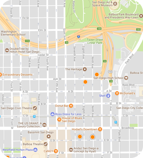cortez hill map search