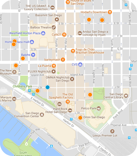 gaslamp quarter map search