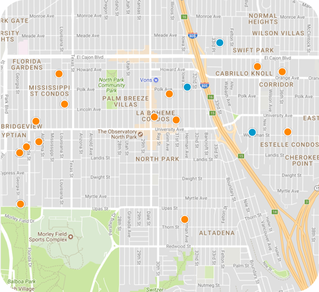 north park map search