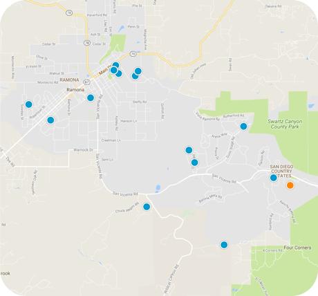 ramona map search