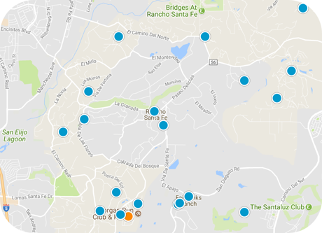rancho santa fe map search