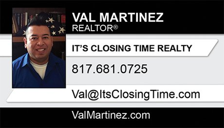 Val Martinez Business Card