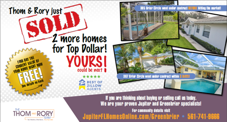 Thom and Rory Selling Jupiter FL Homes