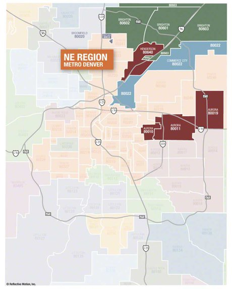 Commerce City Zip Code Map 80022 - Search Homes for Sale By ...