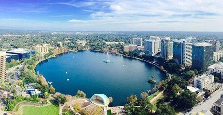 Lake Eola Park in Downtown Orlando Florida