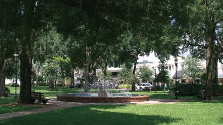 Park Ave Water Fountain in Winter Park