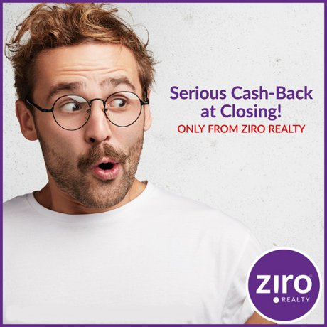 buy a house and get cash back from ziro realty