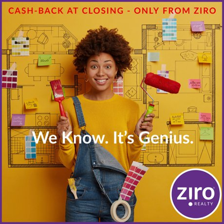 get cash back for closing from ziro realty