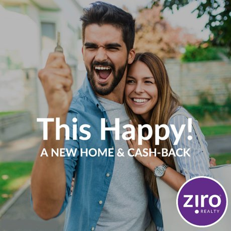 cash back when you buy a new home with ziro realty