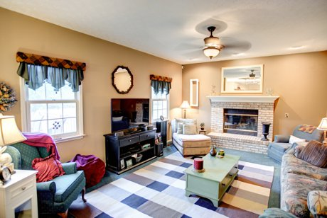 Family Room With Fireplace in Beavercreek