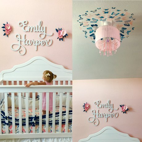 Pink And Navy Nursery Design For A Little Interior Kids Children S