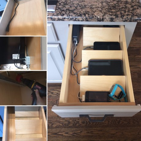 DIY In-Drawer charging station | Kitchen Projects with Knape and Vogt, Home Improvement and Organization | Real Estate & Lifestyle in Northern Colorado, a blog by Joanna Gyrath, Fort Collins Realtor