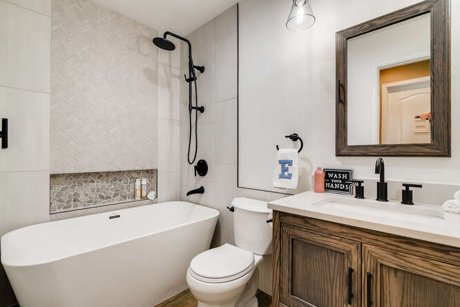 Remodeled kid bathroom