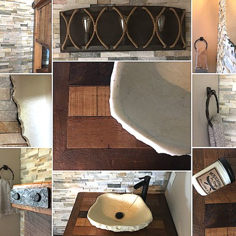 Roughing it in Style - A Rustic Powder Room Makeover in our Fort Collins home