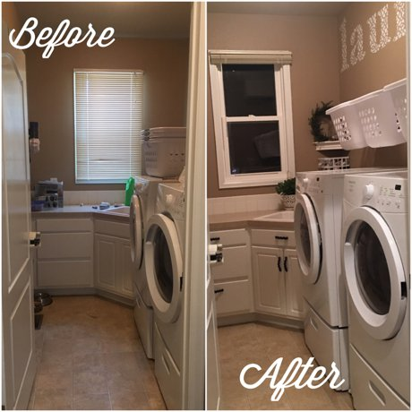 Before and After, laundry room makeover, Fort Collins | Real Estate and Lifestyle in Northern Colorado, a blog by Joanna Gyrath, Fort Collins Realtor