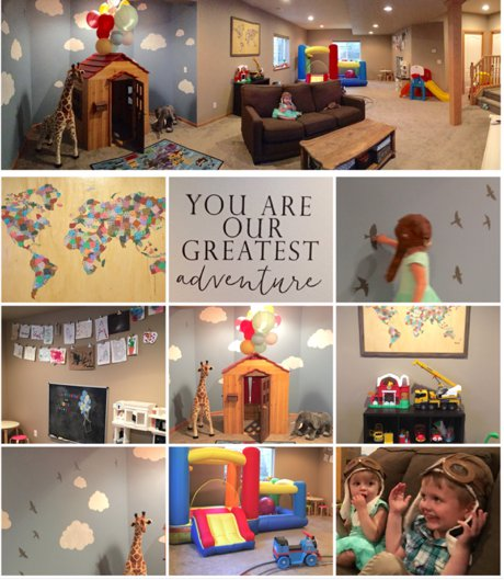 An Up-themed Playroom in Fort Collins | Real Estate and Lifestyle in Northern Colorado, a blog by Joanna Gyrath, Fort Collins Realtor
