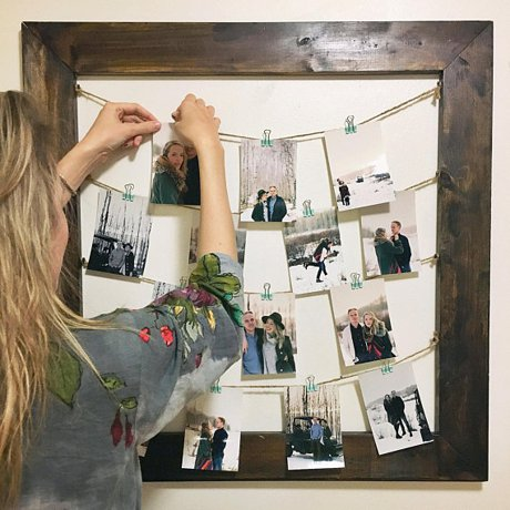 Rustic Clothespin Picture Frame / Photo Display | Real Estate and Lifestyle in Northern Colorado, a blog by Joanna Gyrath, Realtor