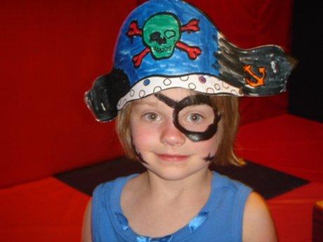 Preschooler dressed as pirate
