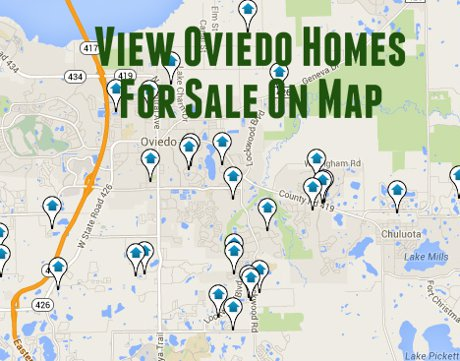 Map of All Oviedo Homes For Sale