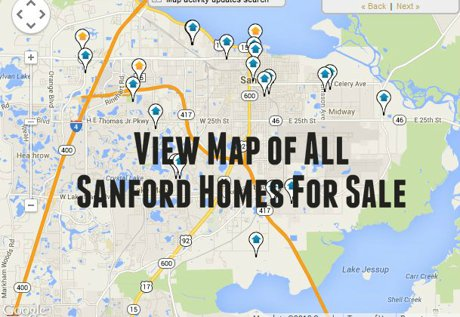 Map of Sanford Homes For Sale