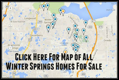 Map of all Winter Springs Homes For Sale