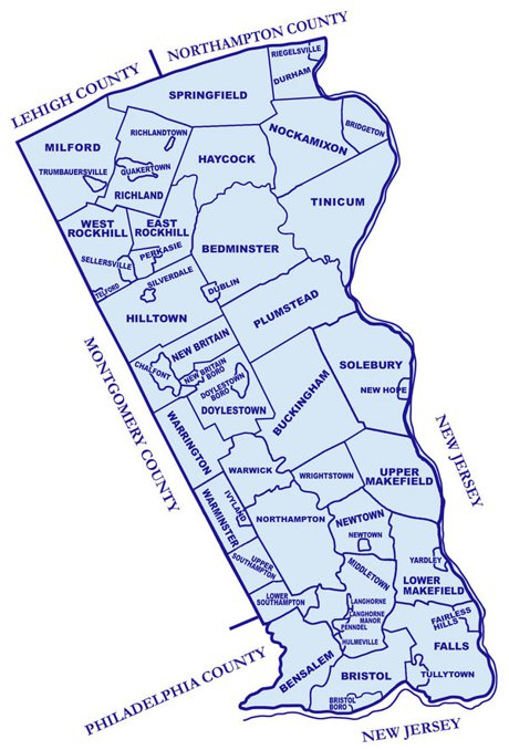 Township Map of Bucks County