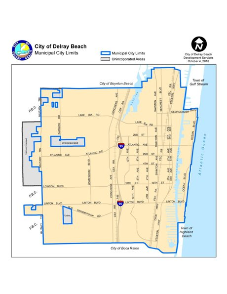 Delray Beach Zoning map