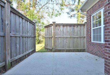 Fenced Patio 226 Hibiscus Way Wilmington NC