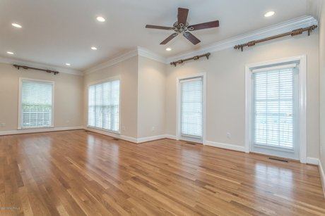 Leland NC Home for Sale Grandiflora Golf Course Master Bedroom Hardwood Floors