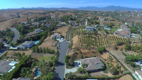 Orchard View aerial shot - Riverside CA
