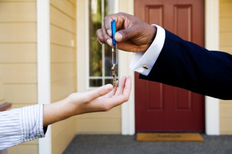 Home Buyers Getting the Keys to their new home
